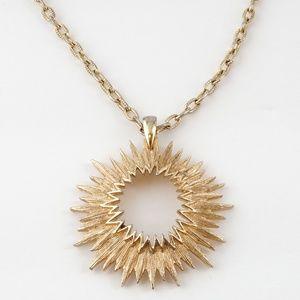 VINTAGE 70s Sarah Coventry Gold Sunburst Necklace